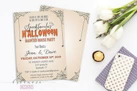 printable halloween invitation spooktacular halloween haunted