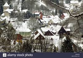 Bad Grund Dpa The Roofs Of Houses Are Snow Covered In Bad Grund Germany