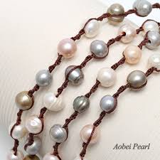 beading cord necklace images Aobei pearl handmade multi strands knotted necklace made of jpg