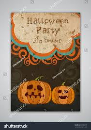vintage template banner flyer design scary stock vector 626883107