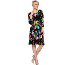 susan graver liquid knit dress with enamel detail page 1 u2014 qvc com