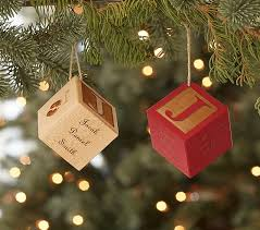 personalized christmas ornaments baby personalized baby block ornaments pottery barn kids