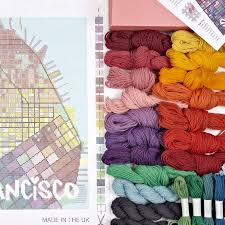 San Francisco City Map by Contemporary San Francisco City Map Tapestry Kit By Hannah Bass