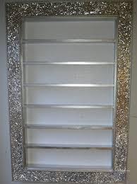 mosaic crackle mirror nail polish rack for opi cnd gelish polish