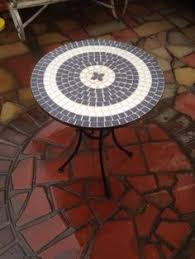 Mosaic Patio Furniture by Garden Mosaic Table Coffee Tea Round Outdoor Patio Bistro