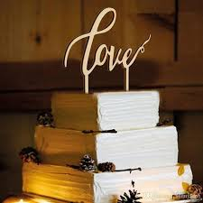 romantic wedding cake topper wood love we do shape letters engaged
