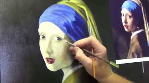 painting girl with a pearl earring girl with the pearl earring 4 acrylic painting for beginners