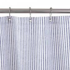 Blue Ticking Curtains Curtain Blue And White Striped Ticking Curtains Blackout Stripe