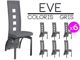 chaise pas cher lot de 6 lot 6 chaises grises