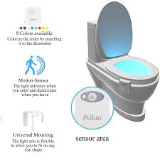 toilet light toilet night light 2pack by ailun motion activated led light 8