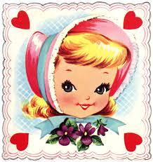 retro valentines retro image girl the graphics fairy