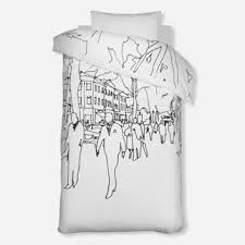 Graphic Duvet Cover Graphic Print Design White Cabana