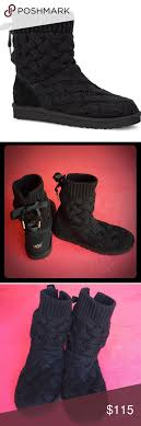 s isla ugg boot ugg black isla boots fur