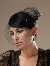 funeral veil 1950s mourning veil hat deuil black by fancyluckyvintage