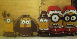wood cut out plywood yard decor yard minions