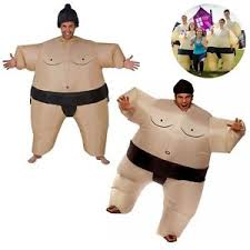 Fat Suit Halloween Costume Kids Inflatable Sumo Suit Wrestling Costume Blow Fat Suit