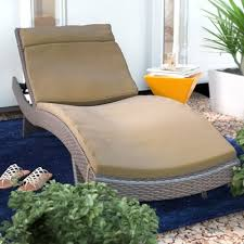 Thick Chaise Lounge Cushions Wade Logan Christian Down Outdoor Chaise Lounge Cushion U0026 Reviews