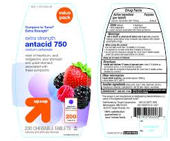 up and up extra strength antacid 750 assorted berry tablet