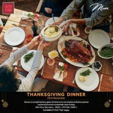 enjoy a thanksgiving feast worthy of the pilgrims at bengaluru