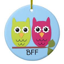 bff owl ornament zazzle