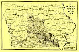 map of iowa towns coal mining in iowa