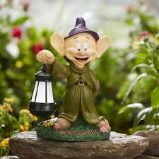 disney disney statue with solar dopey outdoor living outdoor