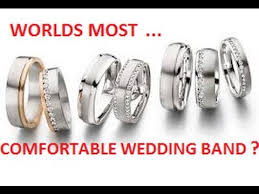 most comfortable wedding band worlds most comfortable wedding band ring comfort gold silver
