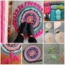 tappeti fai da te tappeto con telaio fai da te tutorial