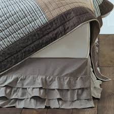 ruffled chambray grey bed skirt queen piper classics