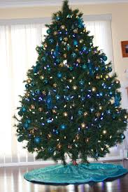White Christmas Tree With Blue Decorations Blue And Silver Christmas Tree Decorations Ideas