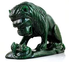 jade lion statue green jade carved jungle king lion 180x100x42 mm 1116 gm