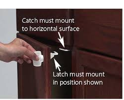 Magnetic Locks For Cabinets S3364 Adhesive Mount Magnet Lock 4 Pack Childproofing Locks And