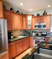 kitchen cabinet pulls with waterfall countertop and modern