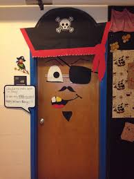 my classroom door decorated as a pirate for halloween craft