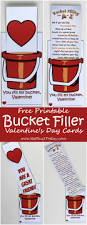 free printable bucket filler valentines for kids you fill my