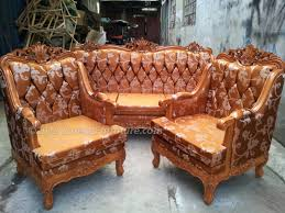 Wooden Frame Sofa Set Louis Sofa With Wooden Frame And Uratex Foam