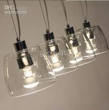 Light Bulb Shades For Ceiling Lights New Modern Contemporary 4 Glass Dinning Room Coffee House Shade