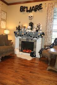 paper trails and scattered pictures halloween decor