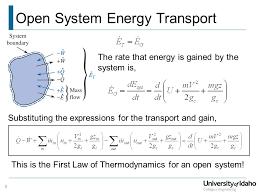 open system energy transport