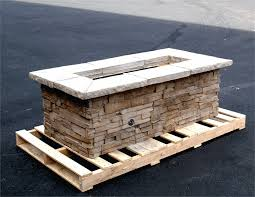 Firepit Gas 61 X 31 Rectangle Custom Pit