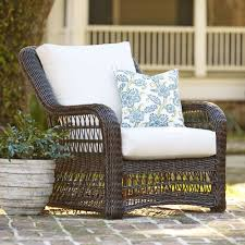 All Weather Wicker Chairs Ideas Comfy Sunbrella Cushions With Beautiful Option Colors For