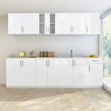 cuisine blanc brillant ensemble de 8 meubles de cuisine blanc brillant