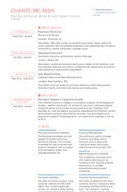 pharmacy technician resume samples visualcv resume samples database