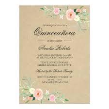 quinceanera invitations rustic floral boho quinceanera invitation quinceanera