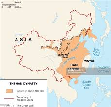 Map Of The Great Wall Of China by The Han Dynasty 202 Bc Ad 220 Expanded The Boundaries Of China