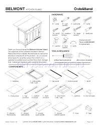 crate u0026 barrel accessories belmont kitchen island assembly