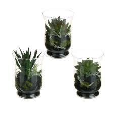 Fake Plants For Home Decor Set Of 3 Southwestern Mixed Artificial Cactus And Succulent Plant