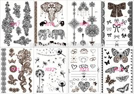 2016 new fashion temporary lace black henna tattoo buy black