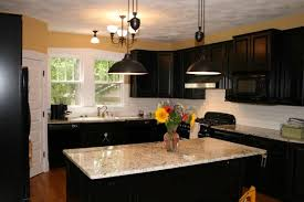 small black hang lamp kitchen wall paint colors with maple cherry