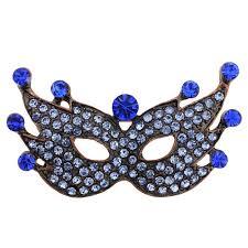 blue masquerade masks sapphire blue masquerade mask pin brooch fantasyard